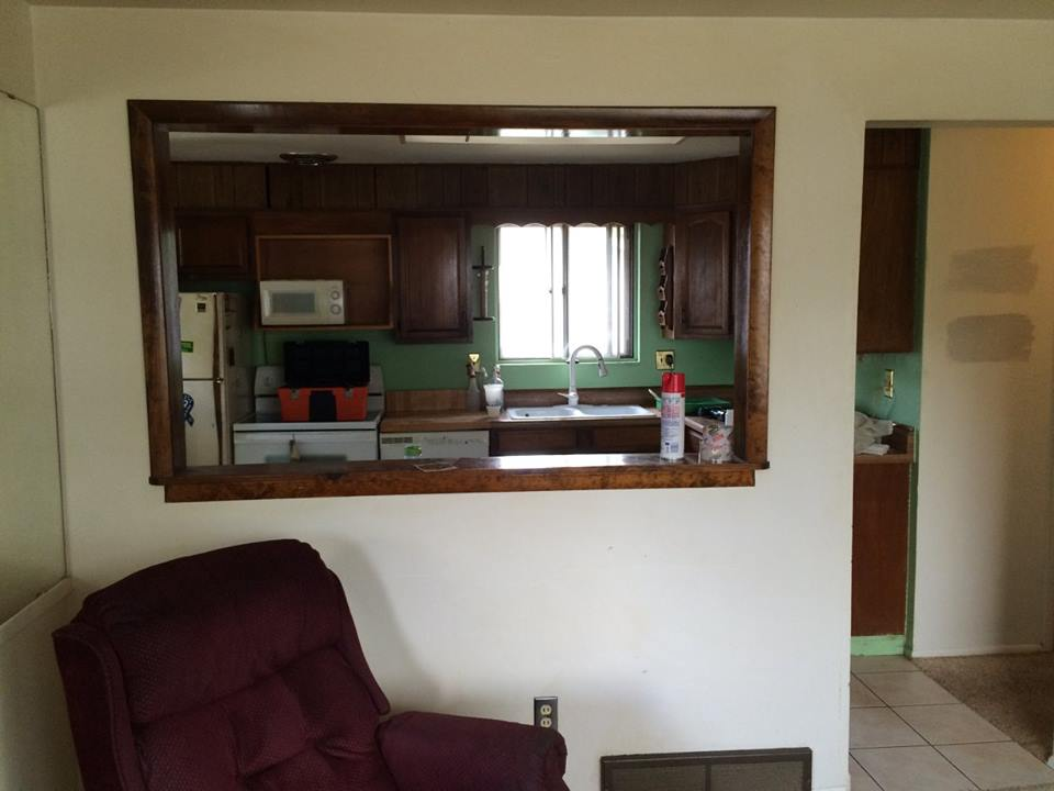 Before - Kitchen (view from living room)