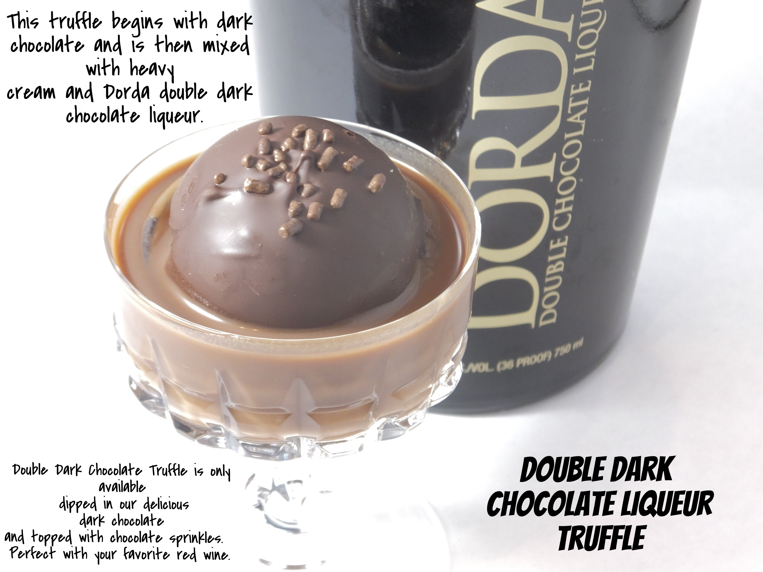 Double Dark Chocolate Liqueur Truffle
