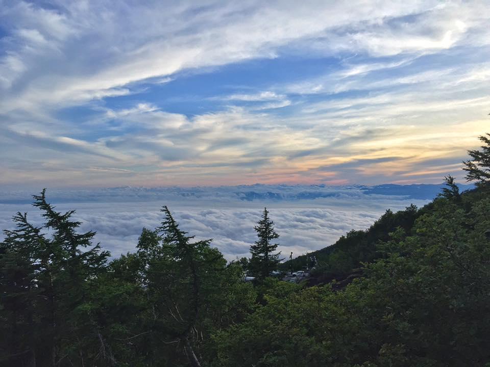 Sunset from the Fujinomiya Trail.