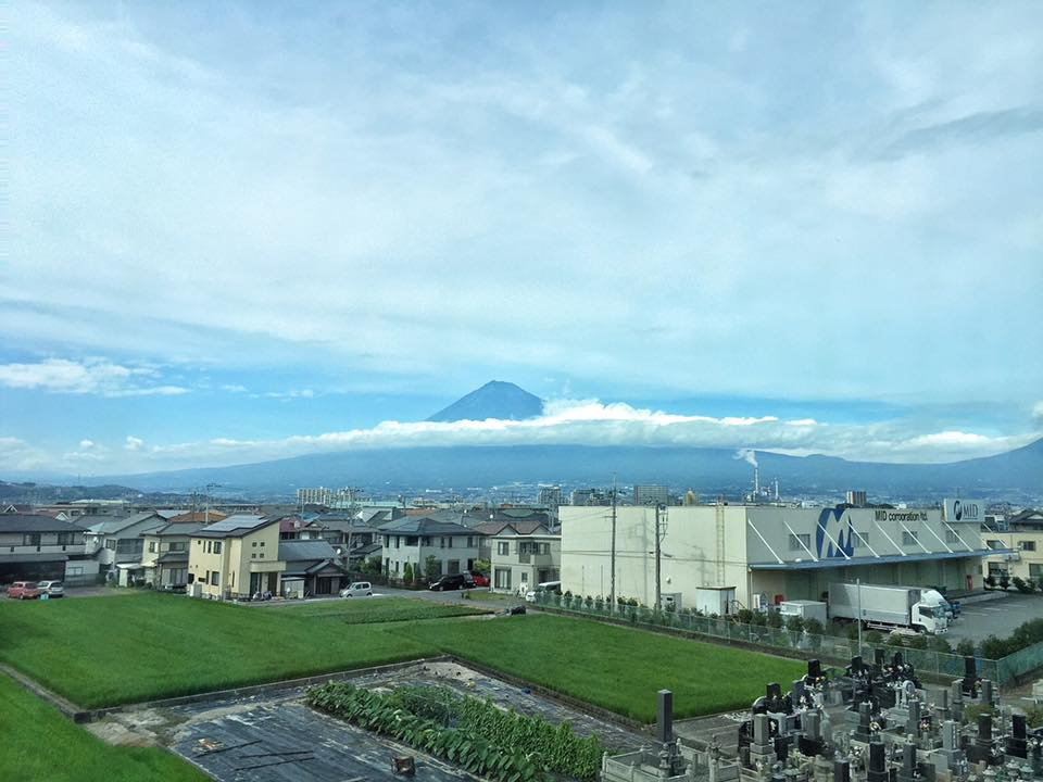 View of Mt. Fuji from the bullet train.