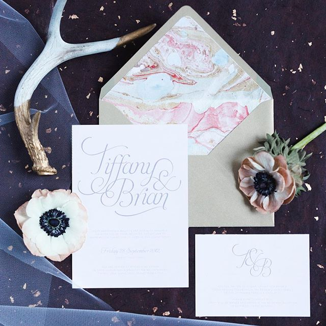 Oldie but a goodie!! And AMAZING photography by the talented @allisonsullivan_photographer See more on my site.  #weddinginvites #invitationdesign #graphicdesign #designer #stylemepretty #customtype #invites