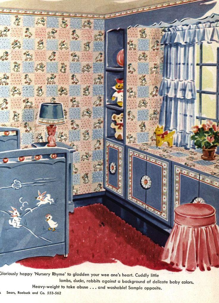 Sears Nursery Wallpaper