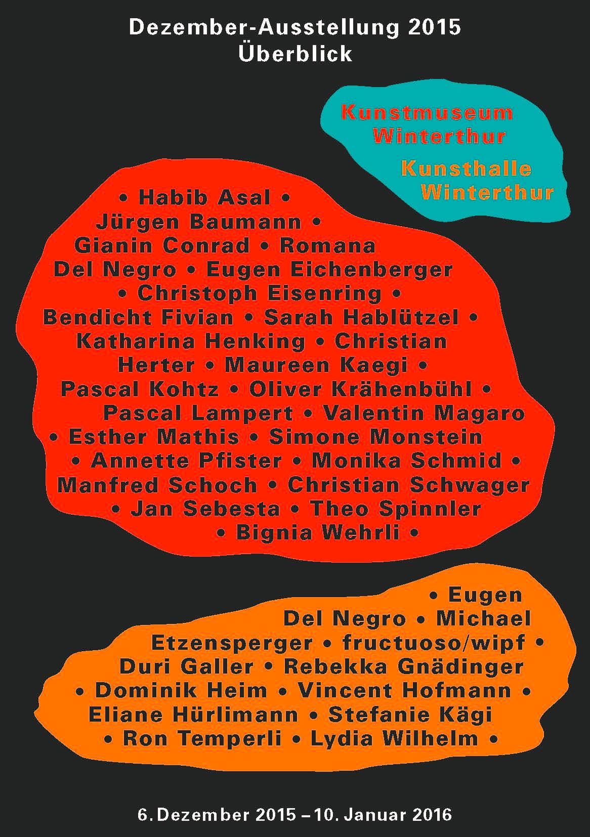Dezember-Ausstellung 2015 Überblick