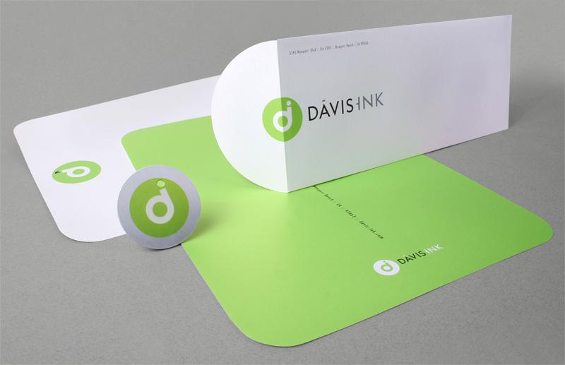 Davis Ink stationary design
