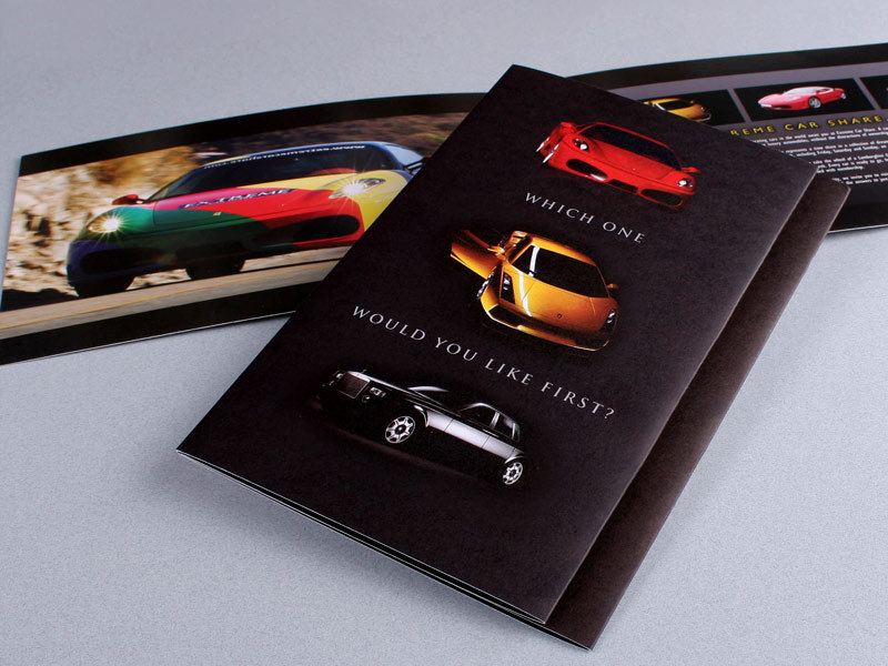 Extreme Car Share brochure design