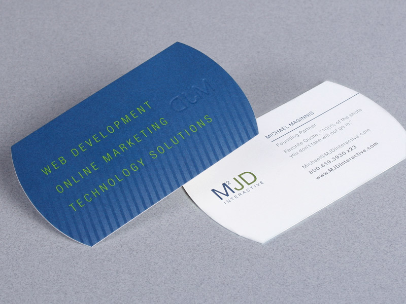MJD Interactive business card design