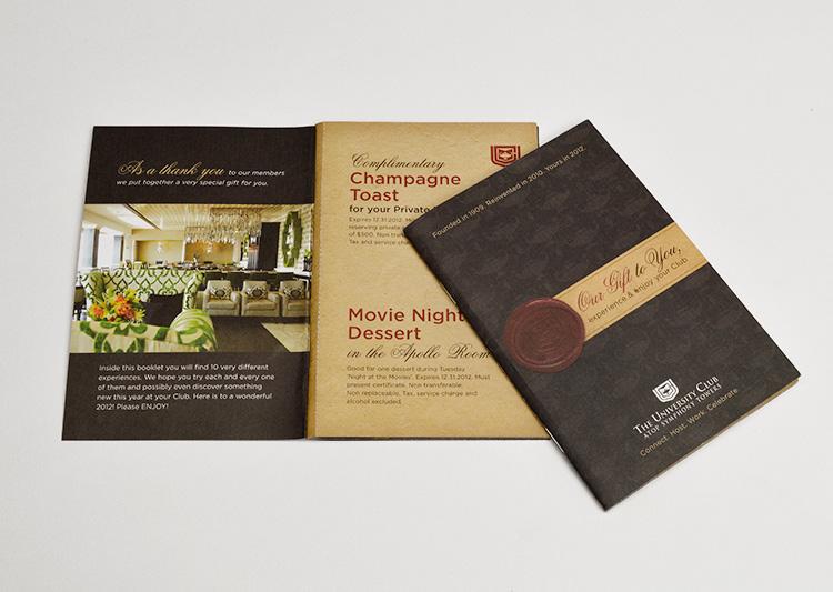 University Club brochure design
