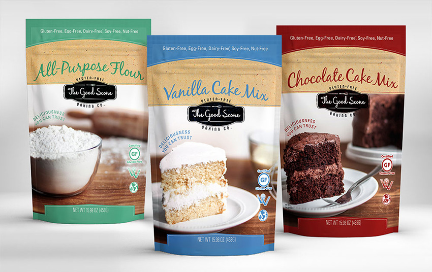 Good Scone packaging design - the winner of the 2014 American Graphic Design Awards, and recently picked up to be sold in Whole Foods and several other grocery stores.