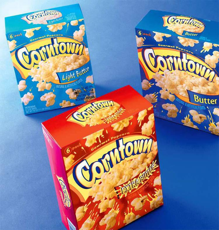 Aldi Corntown package design