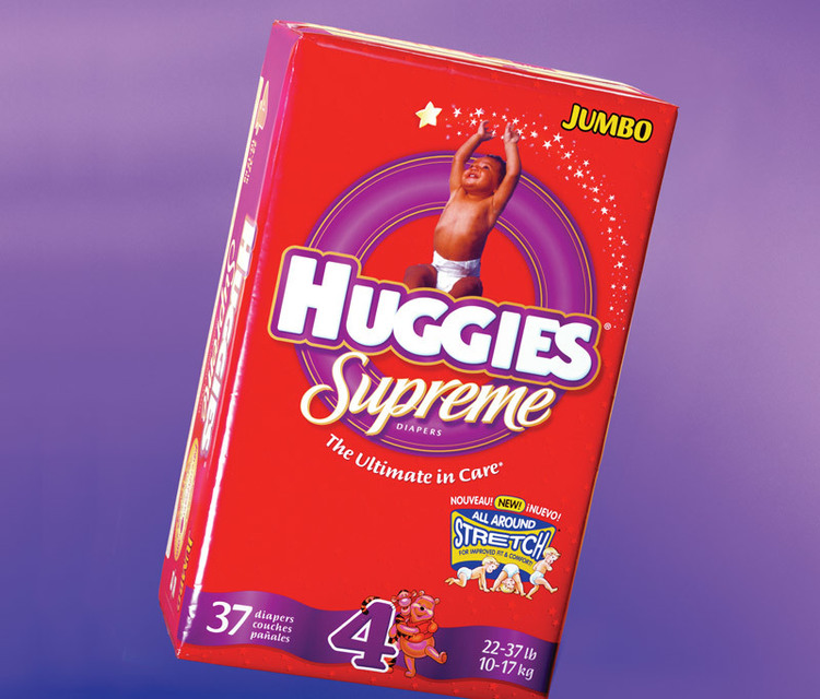 Huggies package design -  5% RAISE TO $3.9 BILLION after the packaging rebranding.