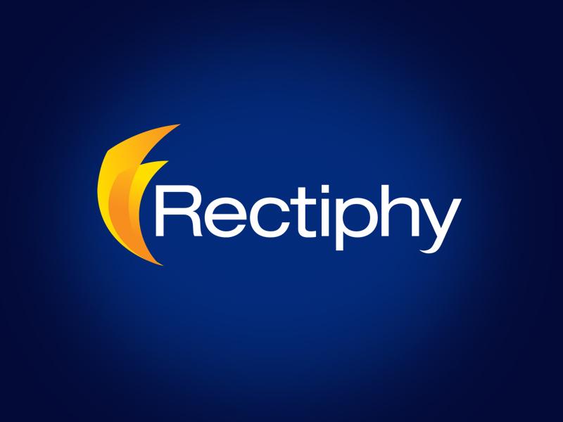 Rectiphy tech logo design.
