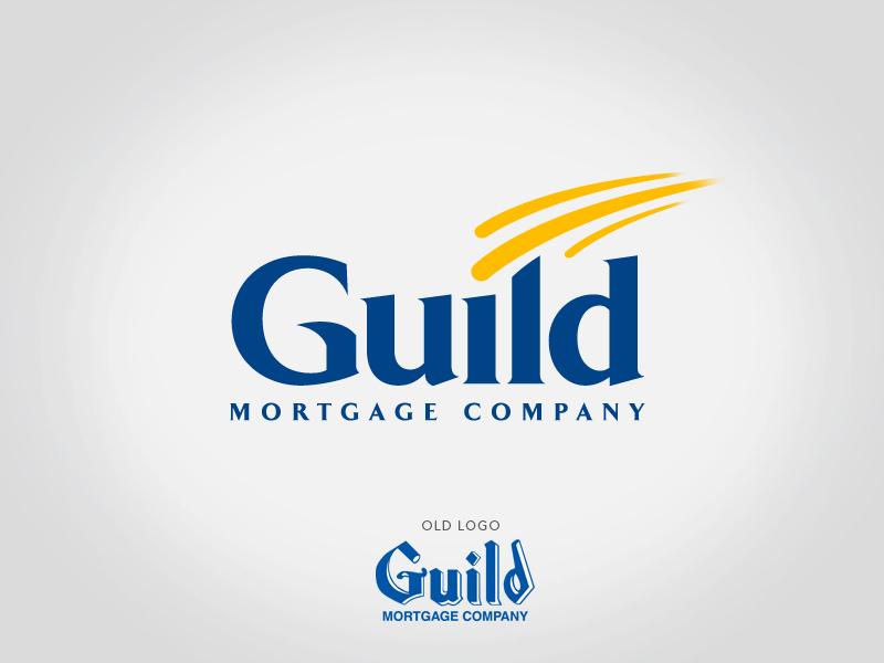 Guild Mortgage logo design.