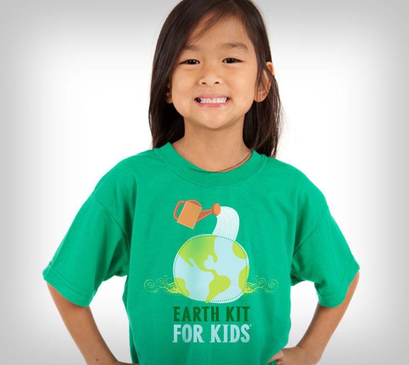 Earth Kit for Kids environmental branding design.