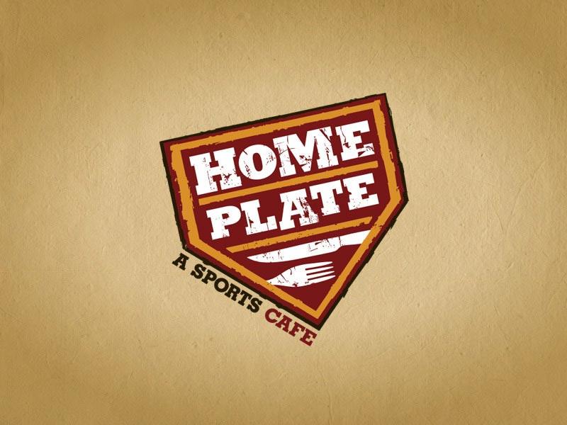 Home Plate bar and restaurant logo design.