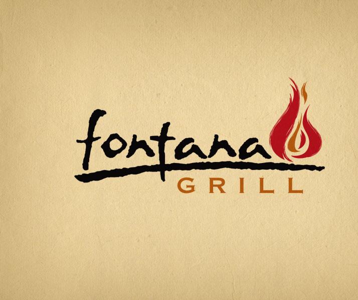 Fontana Grill restaurant and bar logo design.