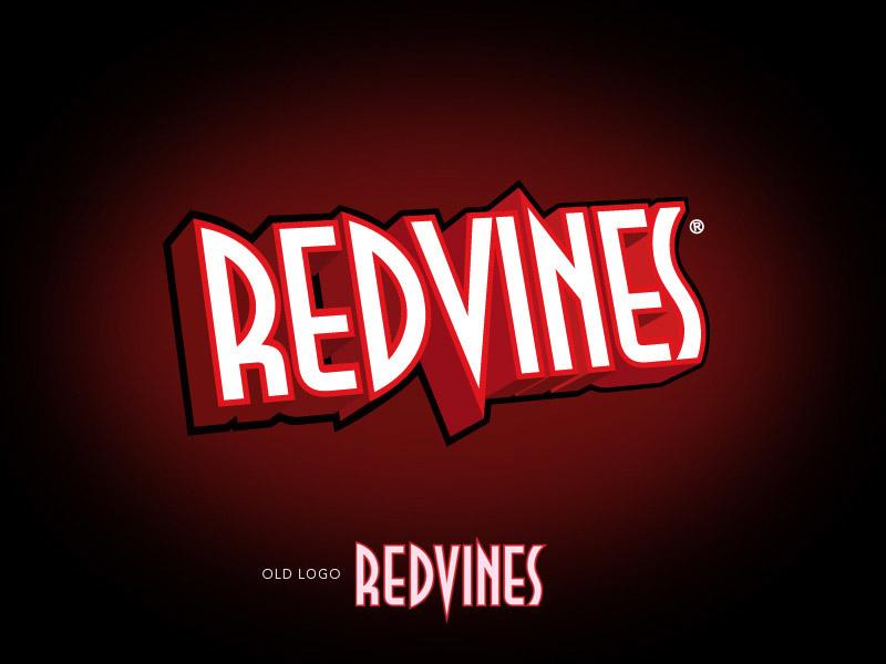 RedVines licorice branding design.