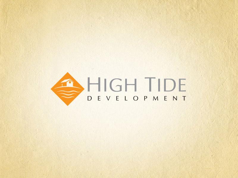 High Tide Development real estate logo design.