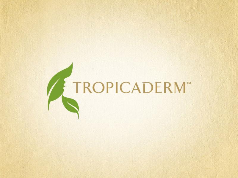 Tropicaderm health and beauty logo design.
