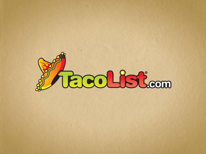 Taco List social media logo design.
