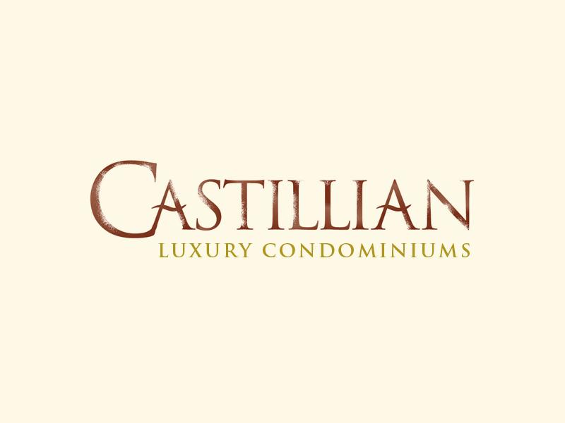 Castillian Condominiums real estate logo design.