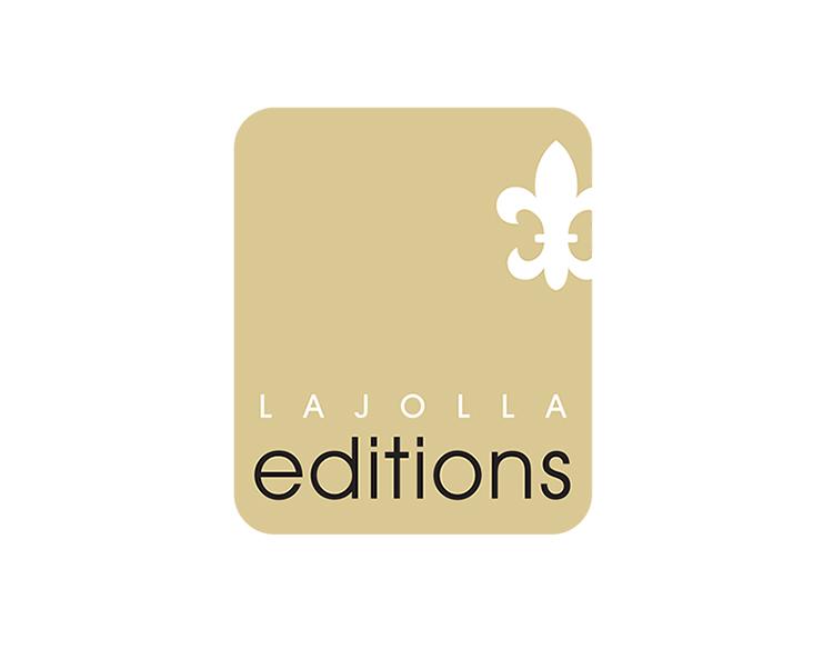 La Jolla Editions art gallery logo design.
