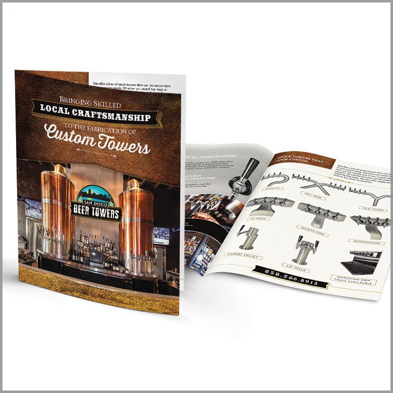 San Diego Beer Towers brochure design