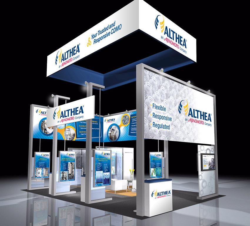 Trade show convention design for Althea Tech Ajinomoto