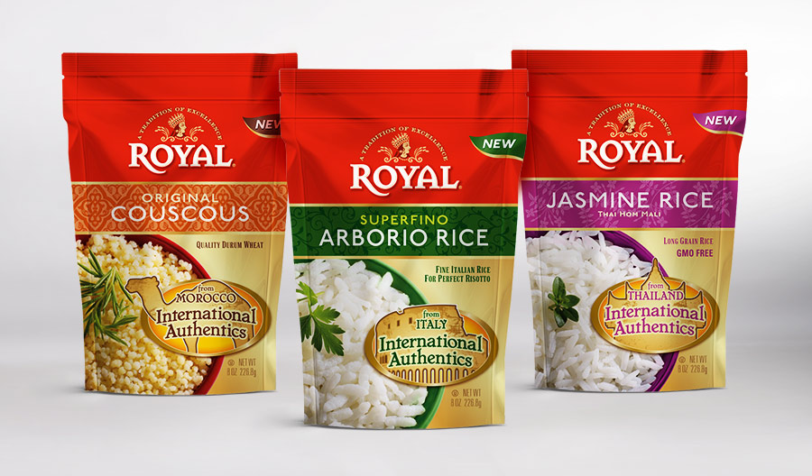 Royal International Authentics food package design