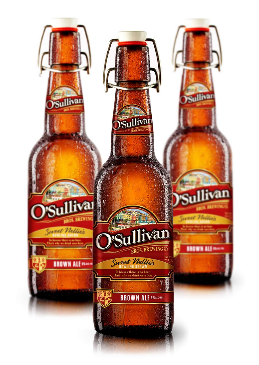 O'Sullivan's Brewing beer bottle design