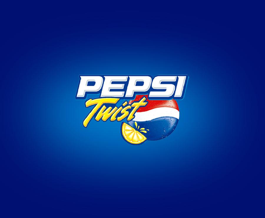 Pepsi Twist label logo design