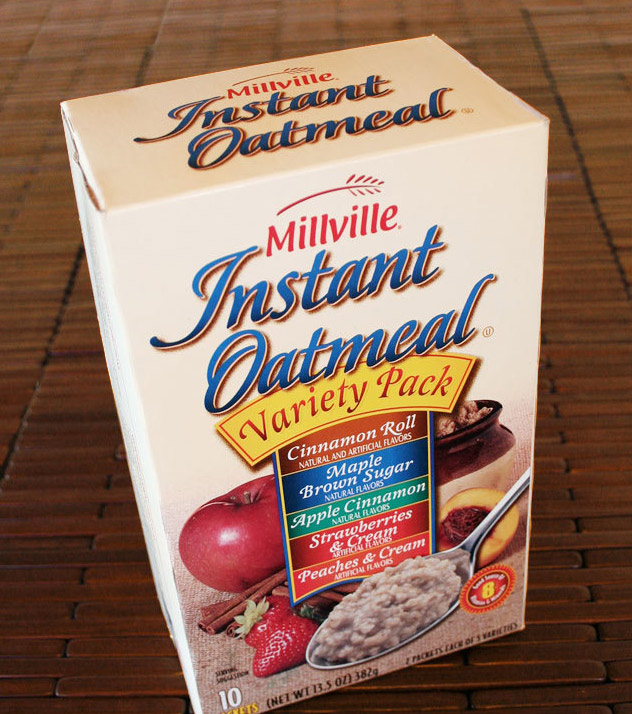 Millville Oatmeal box package design