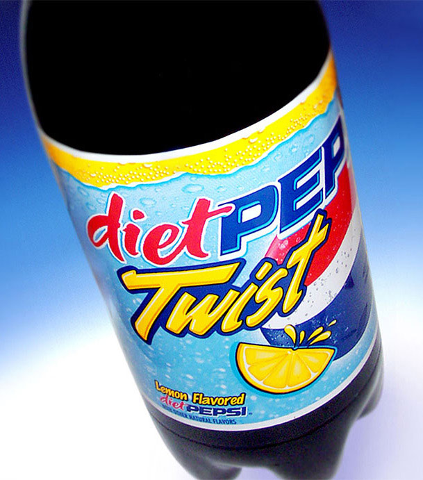 Pepsi Twist beverage label design