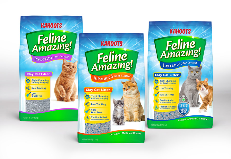 Kahoots kitty litter packaging design