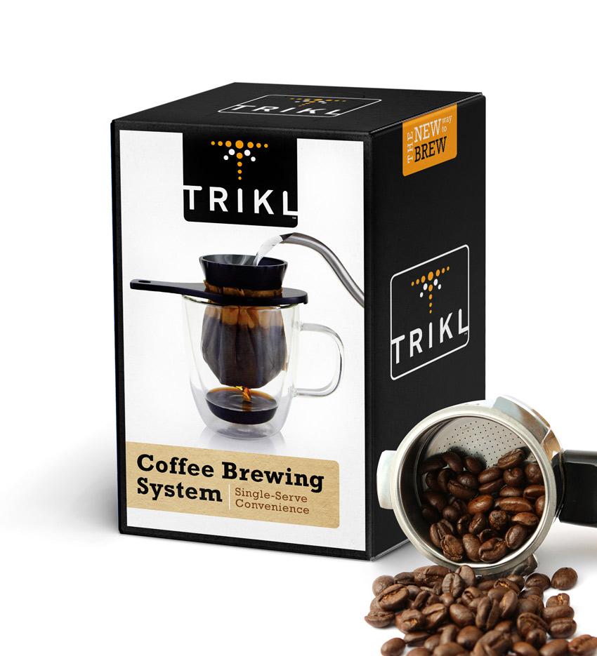 TRIKL coffee brewing package design