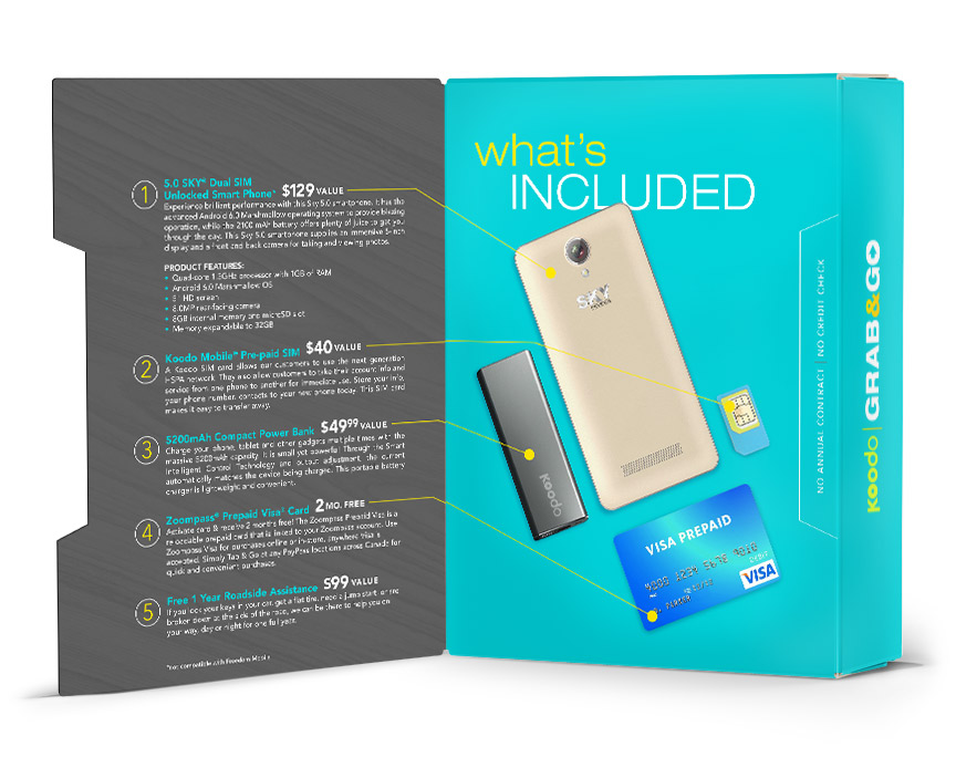 Grab and Go modern cell phone package design