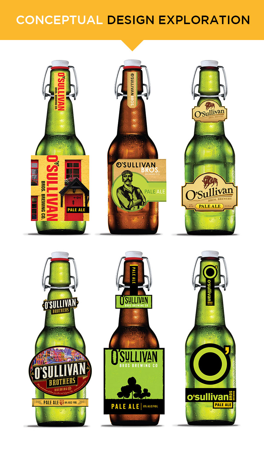 O'Sullivan Brothers beer label design