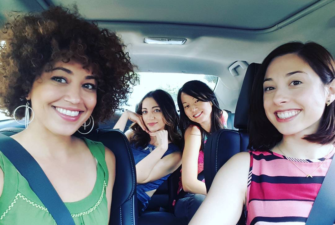 Me and the girls just drivin' around with a....BEE!!!!!