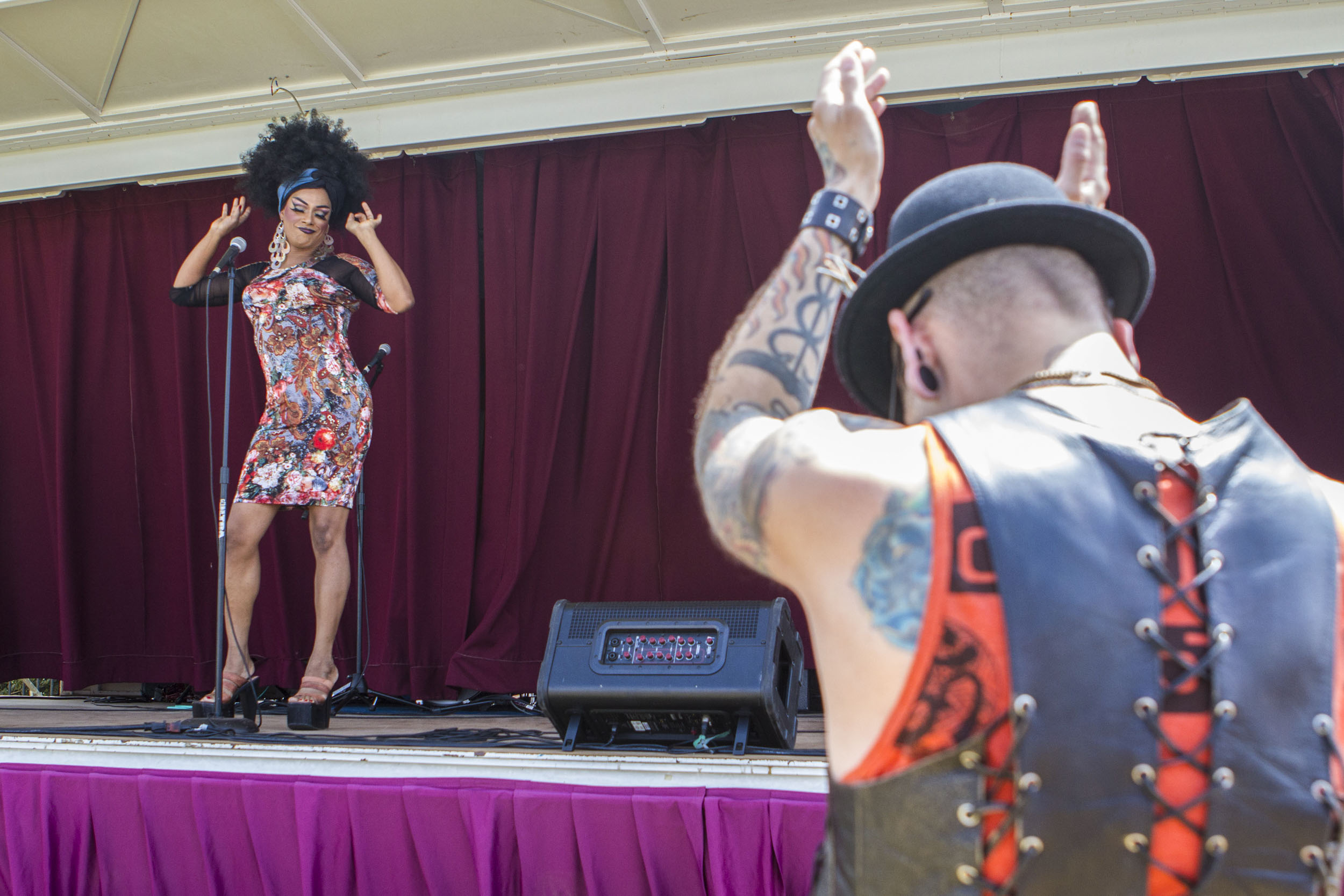 "Selma Cherry performs during the 2015 Ventura County Pride's ""Pride Beach"" event, which took place at Promenade Park in Ventura, Calif. on Aug. 22, 2015."