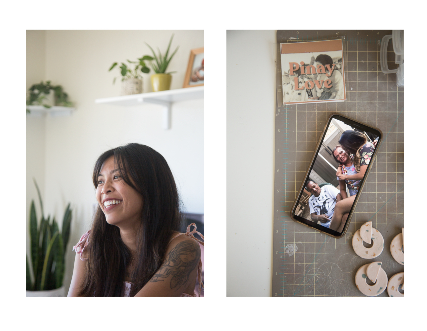 Baye Lacar poses for a portrait in her Mililani, HI home. Lacar is the founder of MA.GA.NDA, a small jewelry line that translates to beautiful in the Tagalog dialect. She was raised on the Waipahu side of Oʻahu, a city that has a large Filipino population. Her connection to her culture is through her grandparents.
