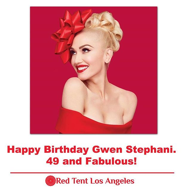 Celebrating Women Wednesday! Today we celebrate Gwen Stephani who is turning 49 & Fabulous today! Happy Birthday. www.RedTentLosAngeles.com #wombwisdom #redtentosangeles #losangelesevents #siserhood #femaleempowerment #gwenstefani #wednesdaymotivation  Red Tent Los Angeles is brought to you by @gretahasselgrace.lmft