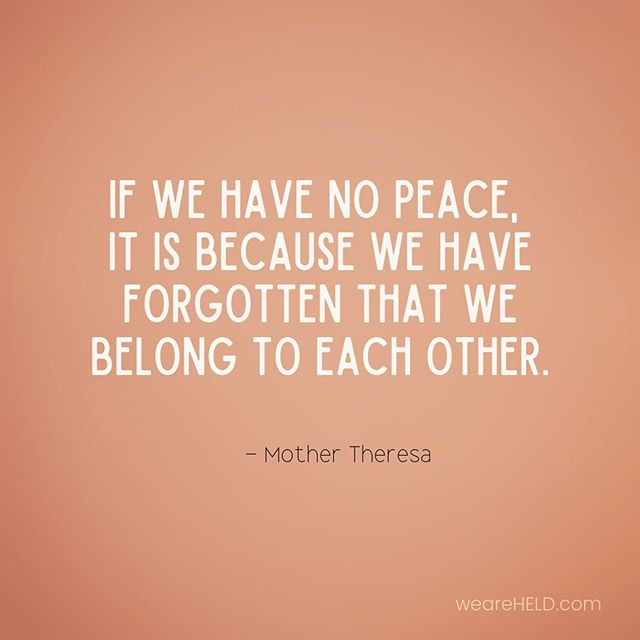 Connection, compassion, empathy... We can't have true peace without them - in the world or within ourselves. . #compassion #empathy #lovingkindness #weareallinthistogether #weareheld