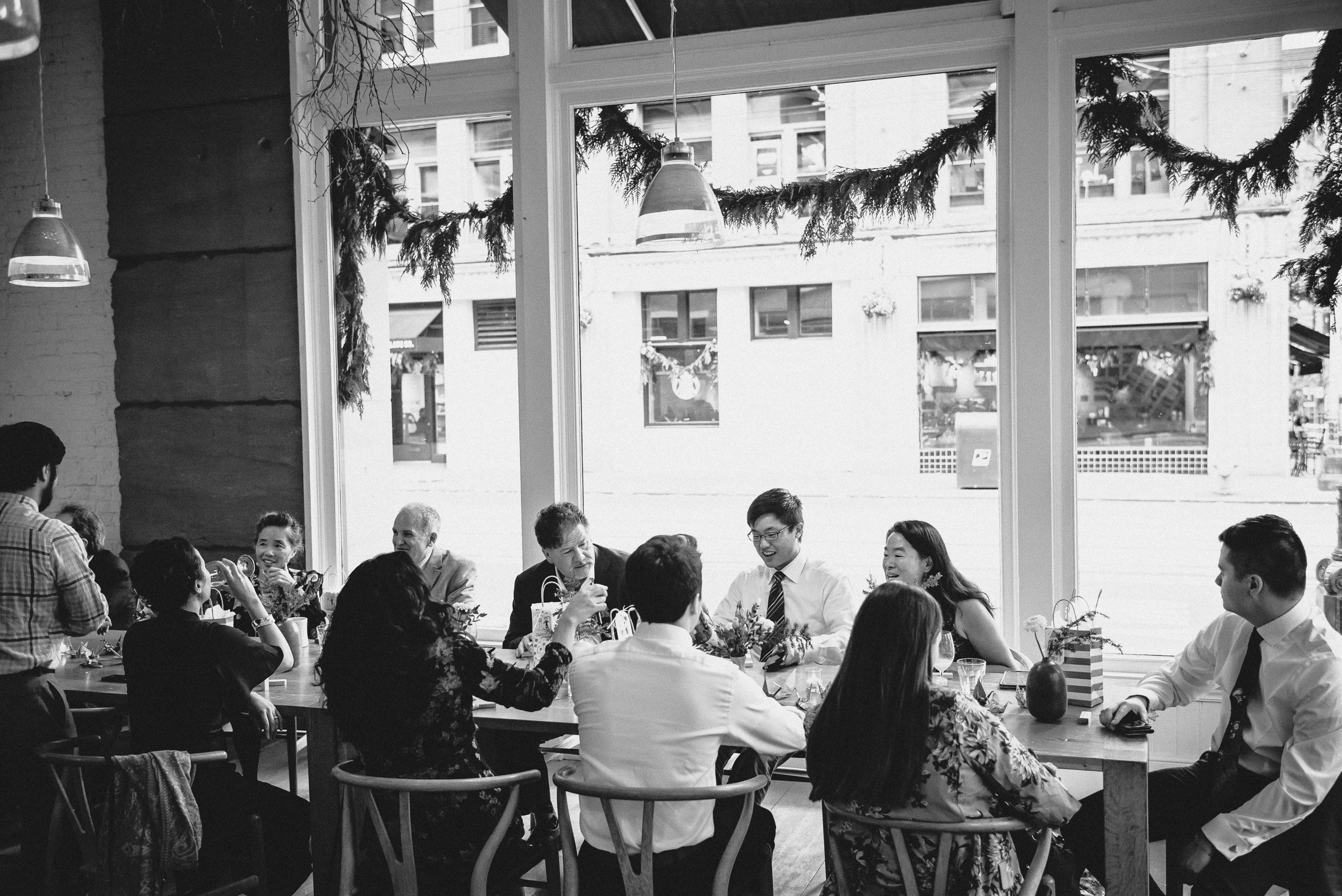Wedding Reception at The Little London Plane in Pioneer Square, Seattle.