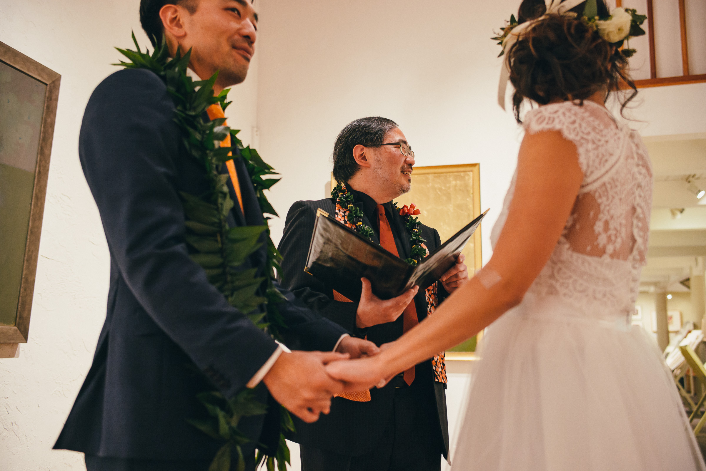 Low-Key Wedding Ceremony in Pioneer Square in Seattle, WA