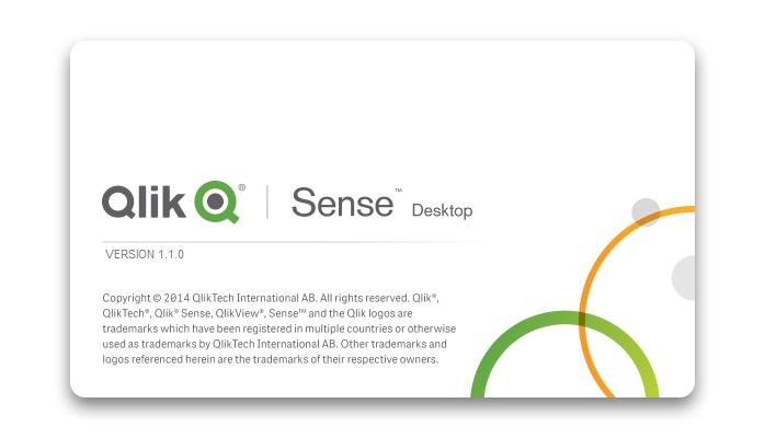 Screen capture from Qlik Sense's desktop Application