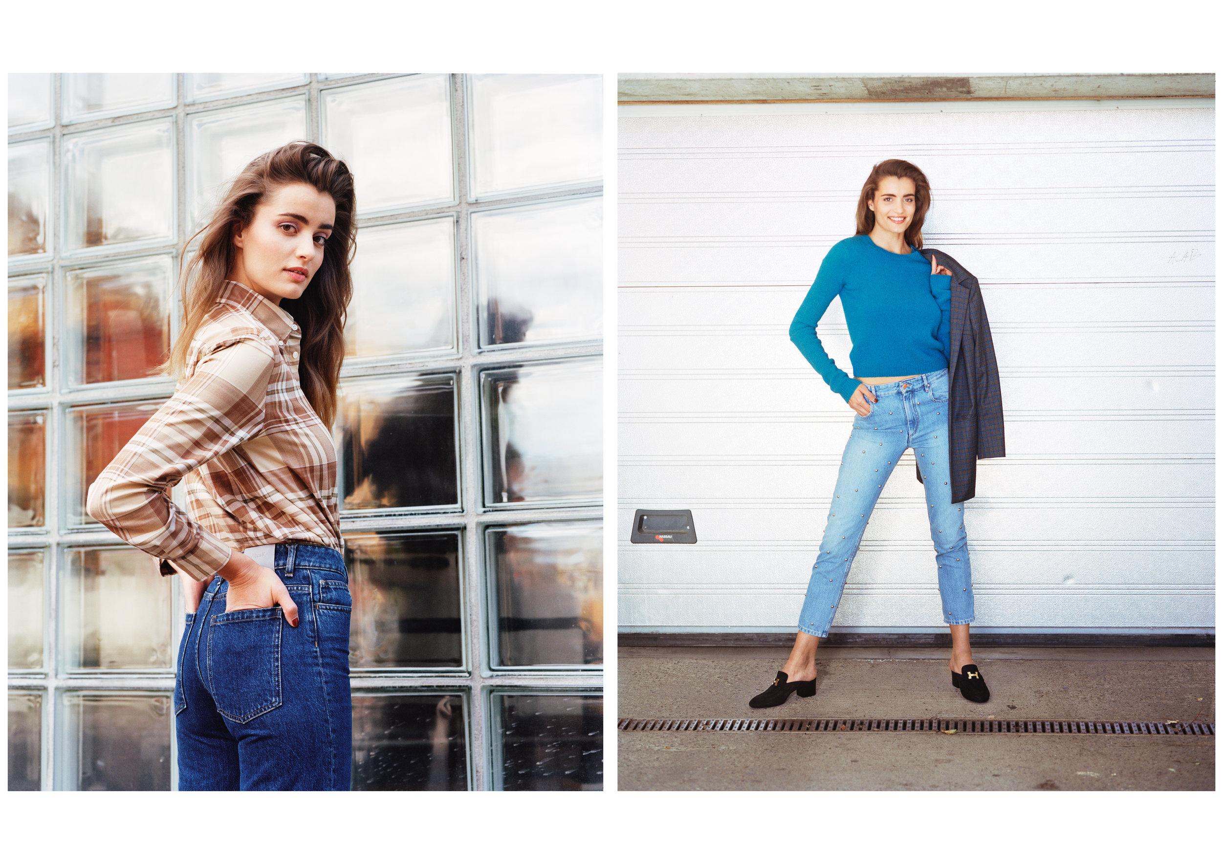 Maude: Skjorte - Ralph Lauren Bukse - Filippa K & Dressjakke - GESTUZ Genser - Acne Studios Bukse - Isabel Marant Etoile Sko - Hermès