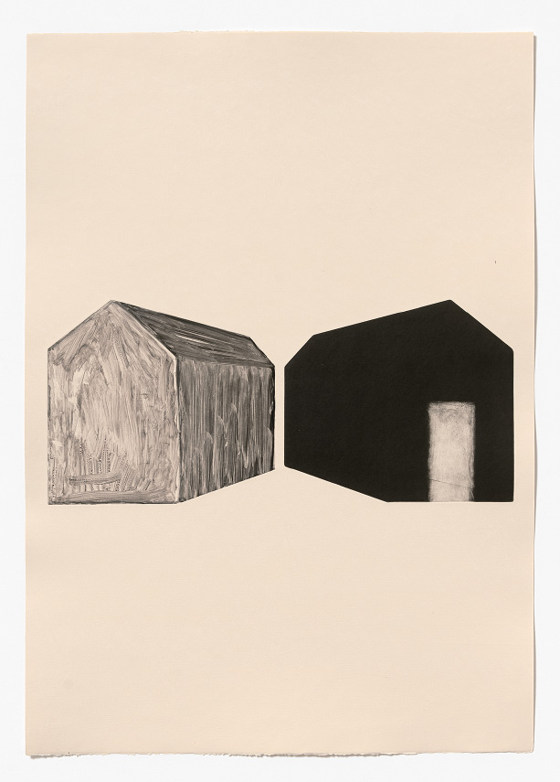 Double   aquatint and monoprint on Fabriano Rosapina, 70 x 50cm, 2015