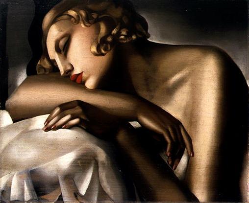 Girl Sleeping, by Tamara de Lempicka