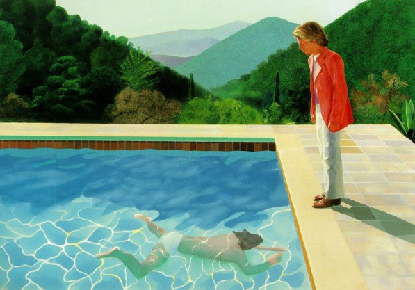 Portrait of an artist, by David Hockney