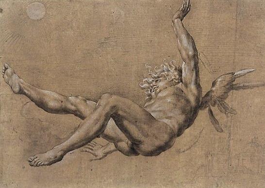 The fall of Icarus, Baglione