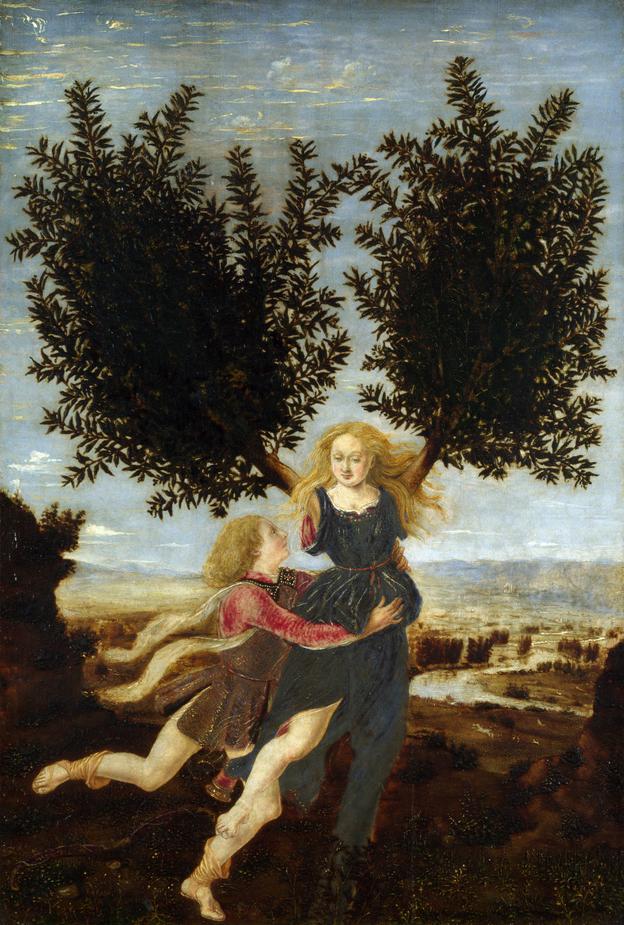 Apollo and Daphne 1470-80, Antonio del Pollaiuolo
